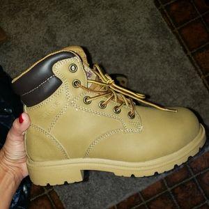 Tan Steel toe construction boot - Brahma brand